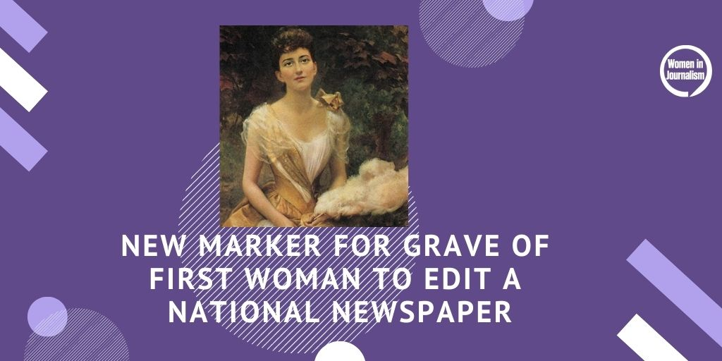 New Marker For Grave Of First Woman To Edit A National Newspaper