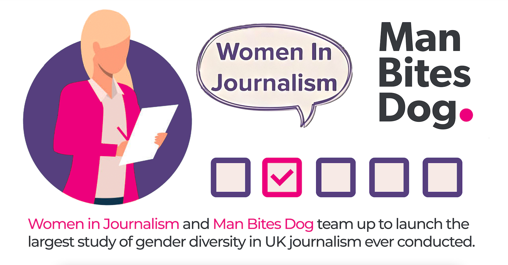 Women in Journalism & Man Bites Dog are calling for journalists to take part in one of the largest and most comprehensive studies.