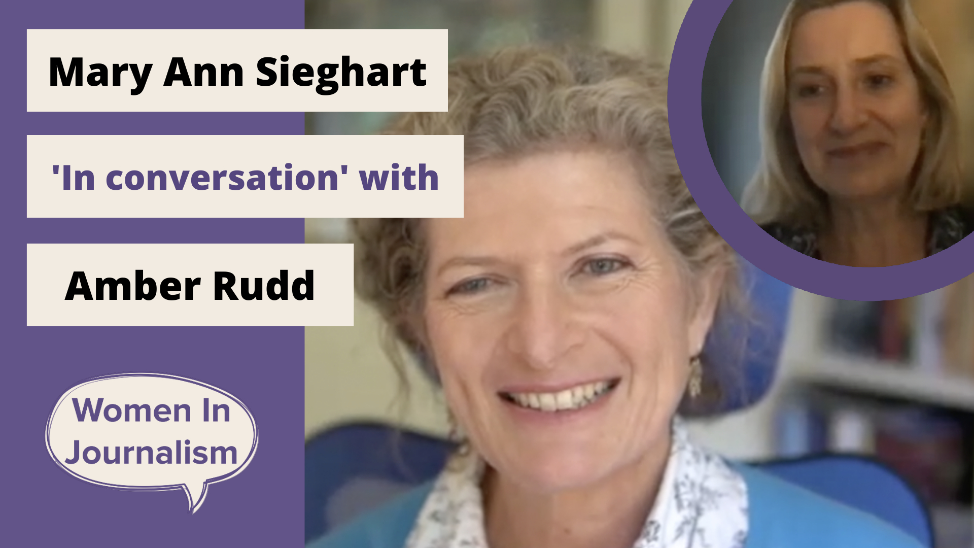 TOP TIPS: Mary Ann Sieghart 'In conversation' with Amber Rudd
